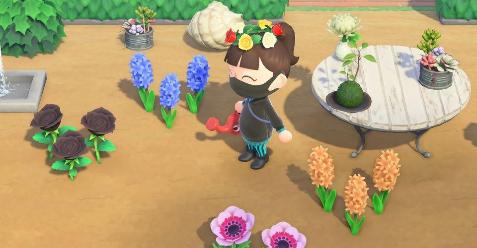 animal crossing new horizons hybrid flowers layout