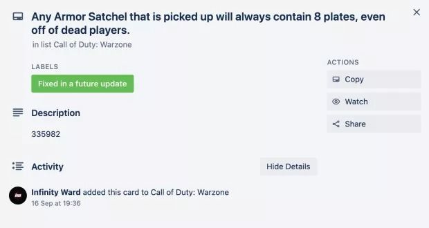 Call of Duty: Warzone Heartbeat Sensor and Armor Satchel Bugs Are Being  Worked On