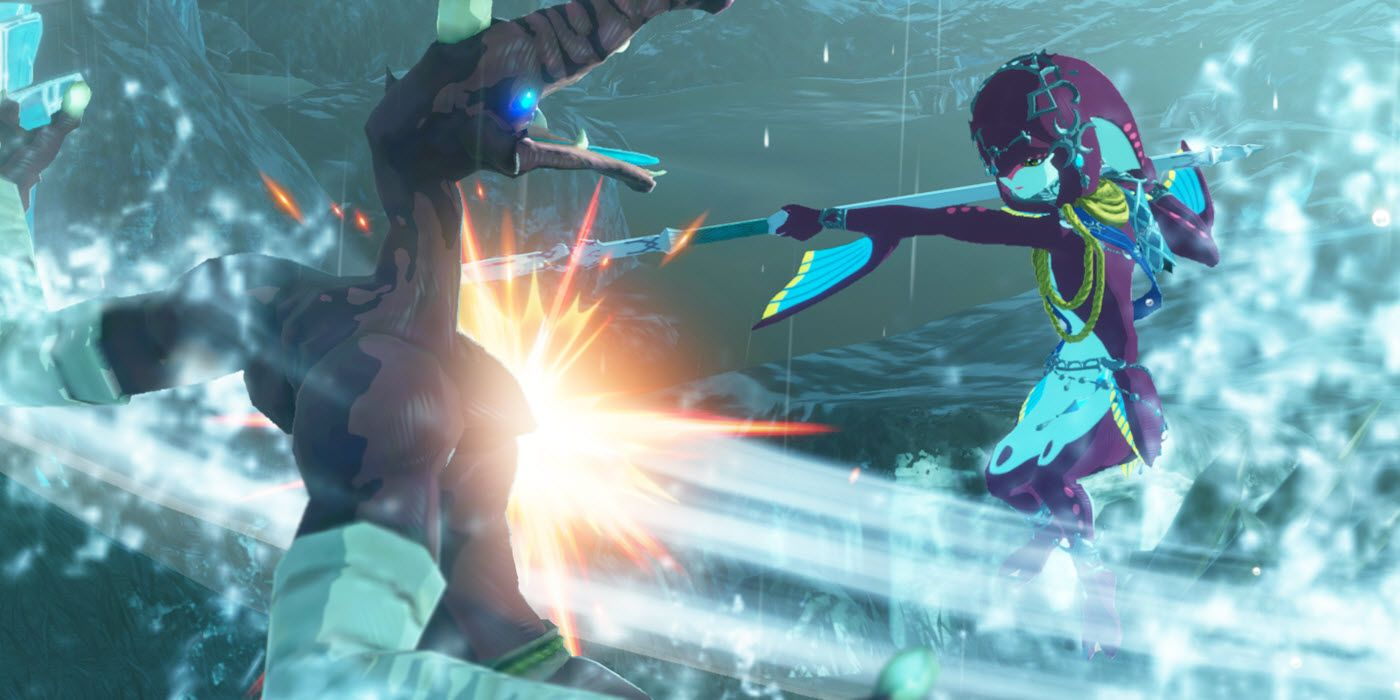 Hyrule Warriors Age Of Calamity Screenshots Show Zora Princess Mipha In Action