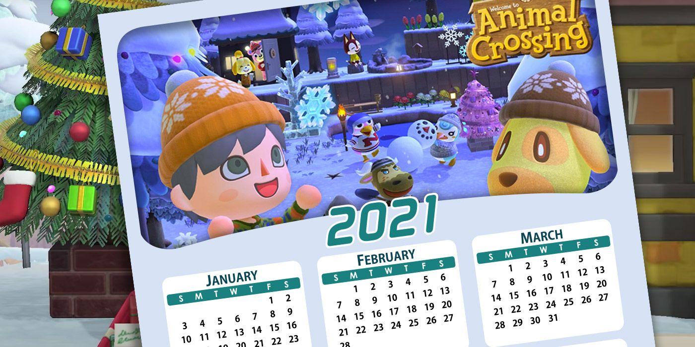 Animal Crossing: New Horizons 2021 Calendar | Game Rant