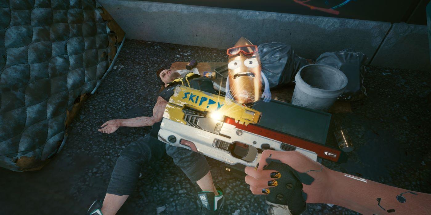 Cyberpunk 2077 Fan Makes Real-Life Skippy Gun Replica | Game Rant