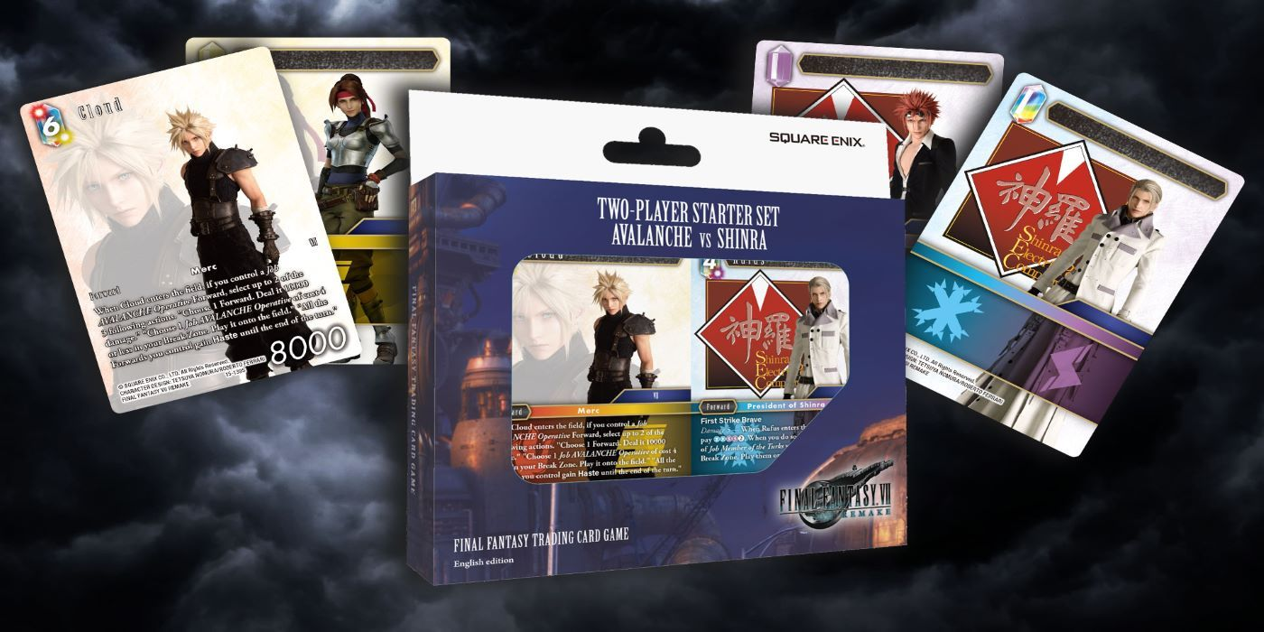 Final Fantasy 7 Avalanche Vs Shinra Card Game Starter Set Up for Pre-Order
