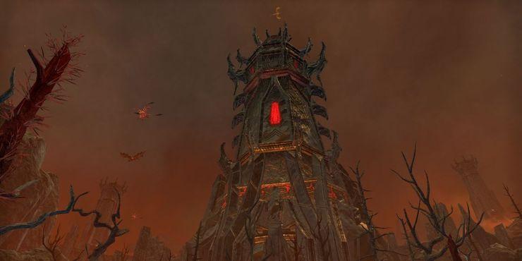 адски выглядящая башня