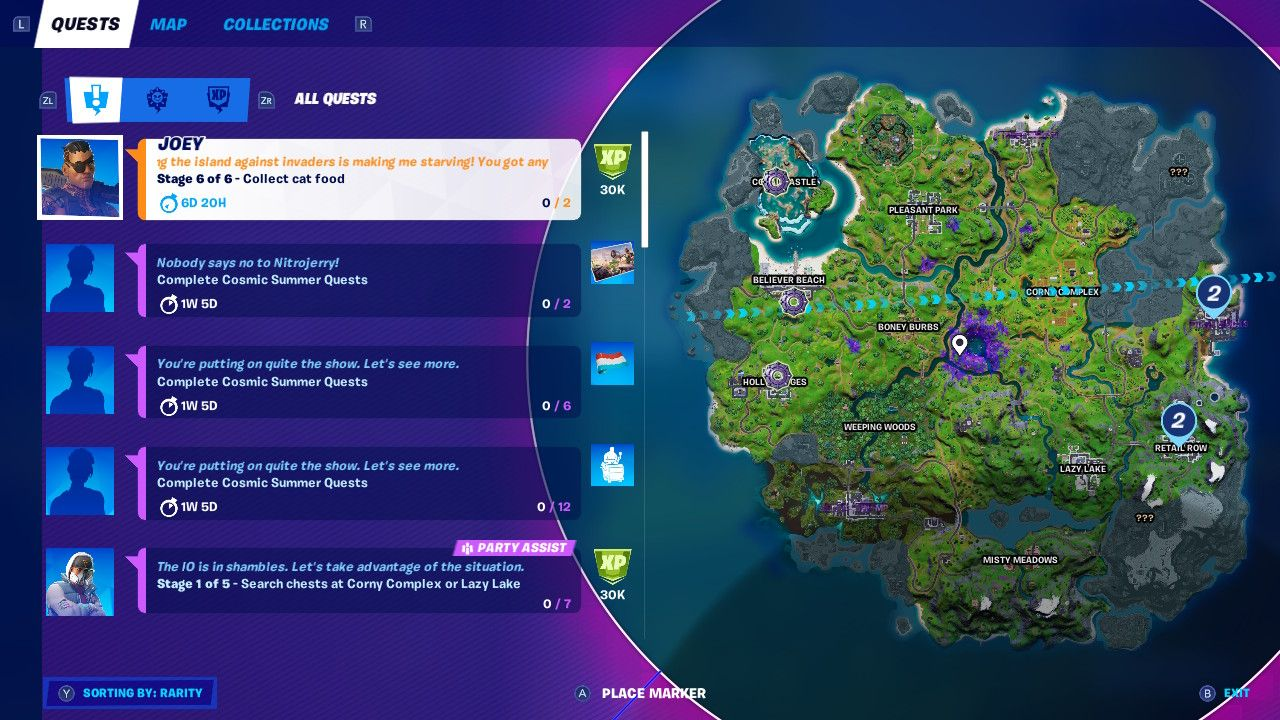 North Side Of The Map Fortnite Fortnite All Cat Food Locations For Season 7 Challenge Neotizen News