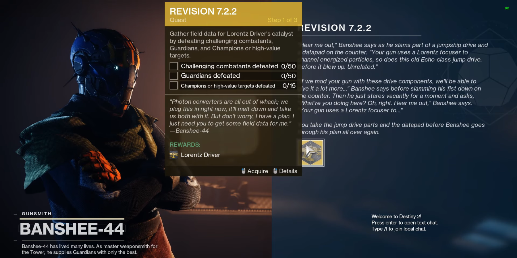 Destiny 2: How to Get Lorentz Driver's Catalyst and What it Does