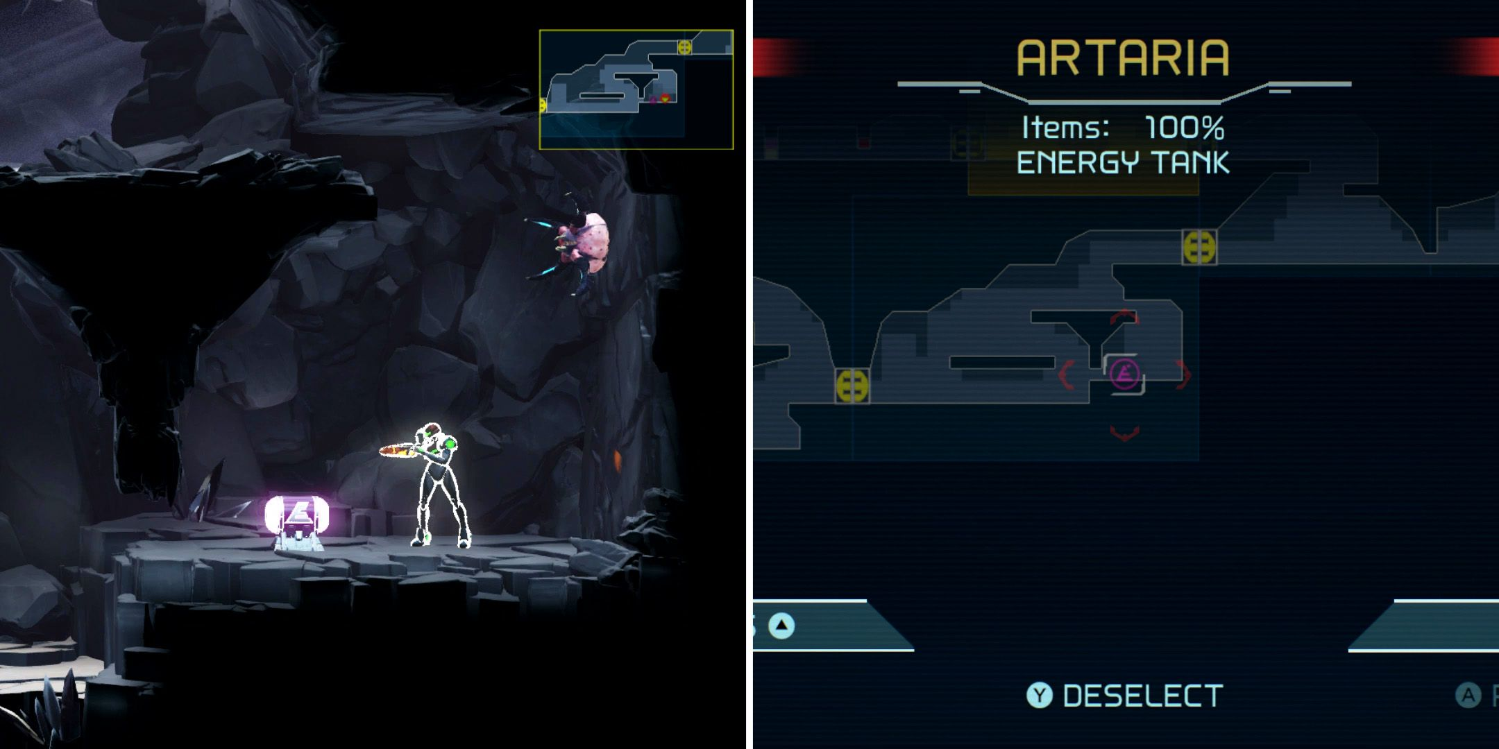 Metroid Dread: Every Energy, Missile & Power Bomb Tank in Artaria