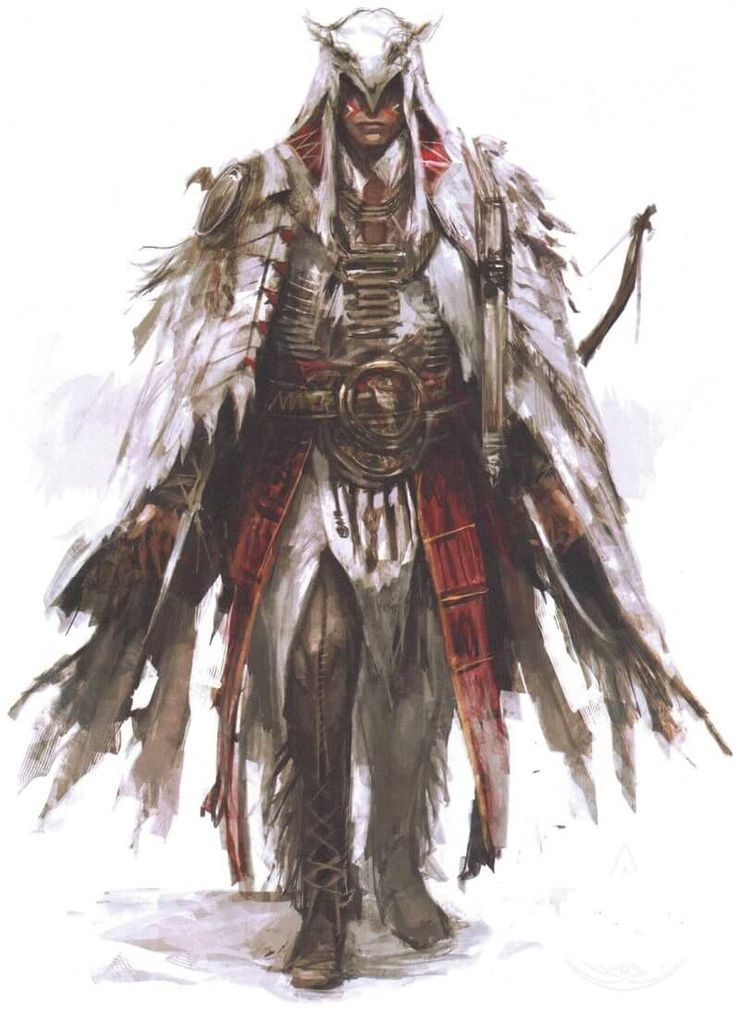 Assassin S Creed 3 Mohawk Armor Concept Art Game Rant