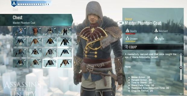 Assassin S Creed Unity Co Op Character Customization F2p Details