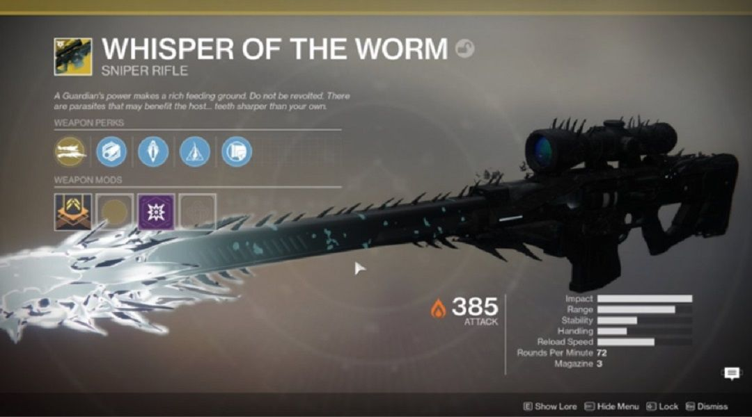 Destiny 2: How to Unlock the Whisper of the Worm Exotic Sniper Rifle