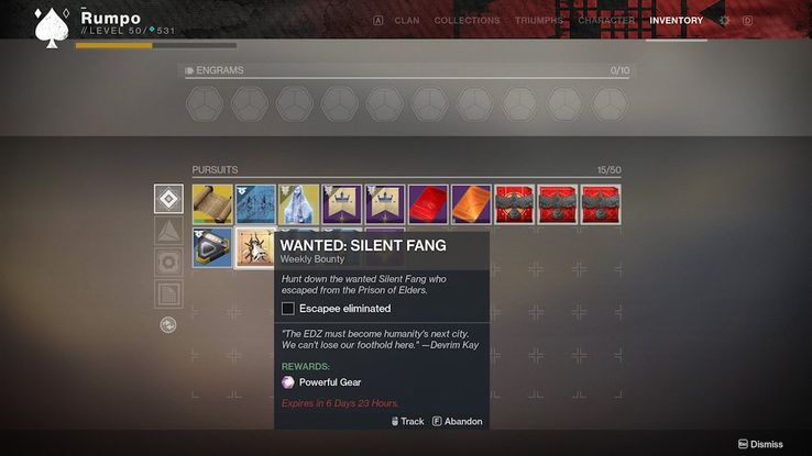 Destiny 2 Will Stop Players from Hoarding Bounties for Next