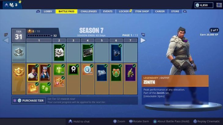 How To Get 350 000 Xp Fortnite Fortnite Here Are All The Season 7 Battle Pass Skins Game Rant
