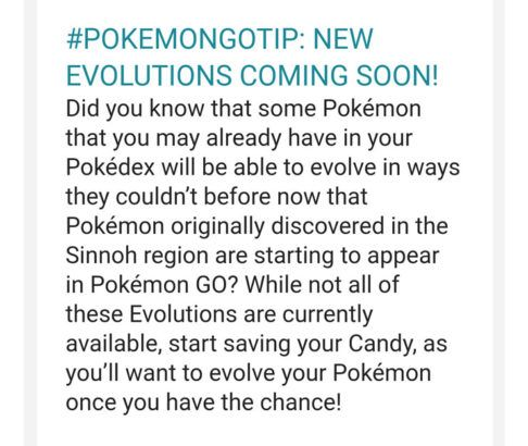 Pokemon GO to Add New Gen 4 Evolutions Soon | Game Rant